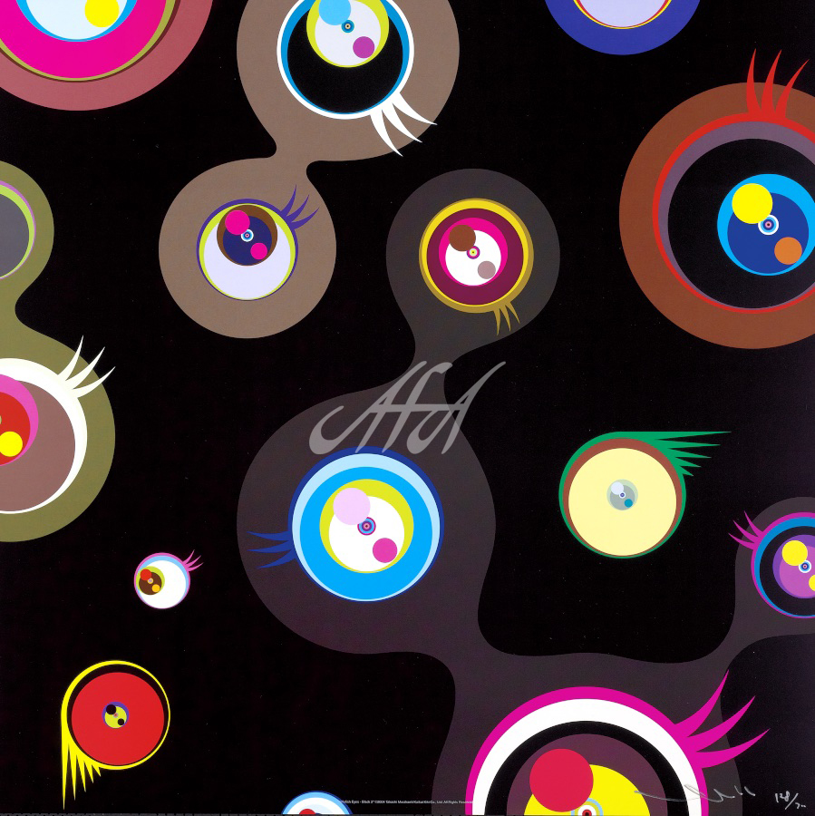 Takashi Murakami - Jellyfish Eyes - Black 2 watermark.jpg