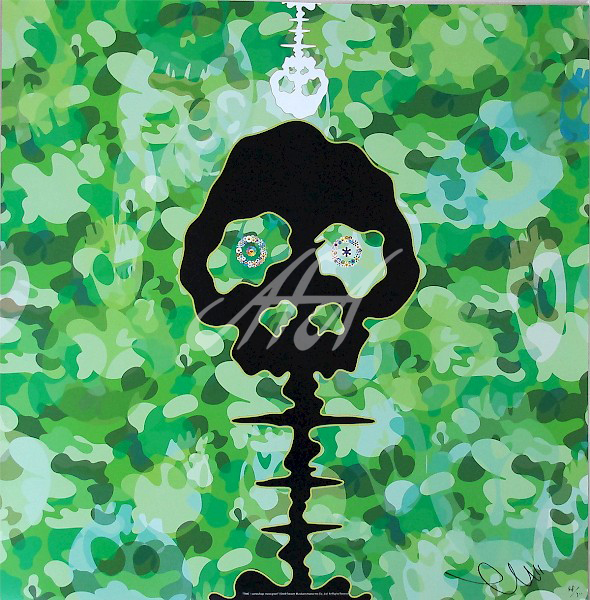 Takashi Murakami - Time Boken Camoflage Moss Green watermark.jpg