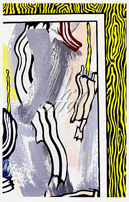 Roy Lichtenstein - Painting on Blue and Yellow Wall watermark.jpg