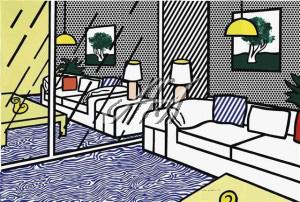 Roy Lichtenstein - Wallpaper with Blue Floor Interior watermark.jpg