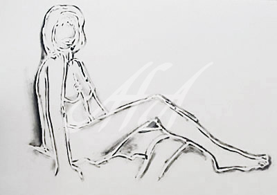 Tom Wesselmann - Monica Sitting on One Leg watermark.jpg