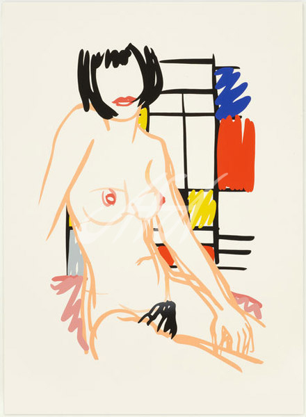 Tom Wesselmann - Monica Sitting with Mondrain watermark.jpg