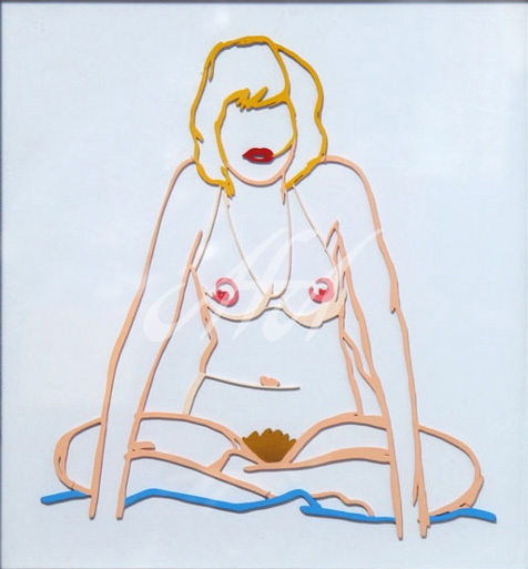 Tom Wesselmann - Steel Drawing Editon - Monica Sitting Cross-Legged watermark.jpg
