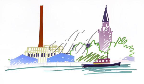 Tom Wesselmann - Thames Scene with Power Station watermark.jpg