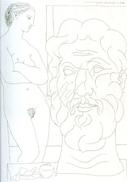 Picasso_Vollard_Model and a big head sculpture watermark.jpg