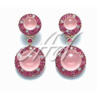 Round pink drop earrings watermarked.jpg