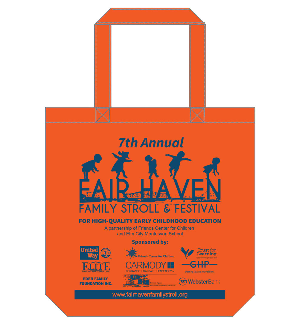 7th annual Fair Haven Family Stroll & Festival tote bag