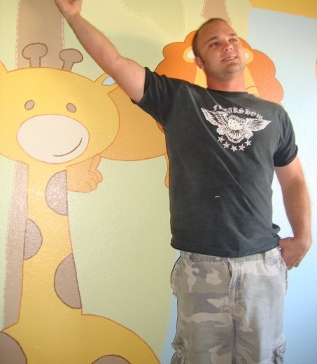 Child bedroom mural
