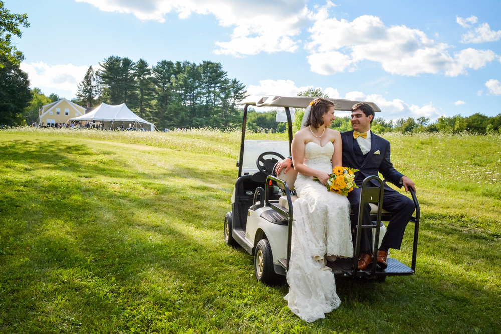 Rent a golf cart to get your guests around the property!