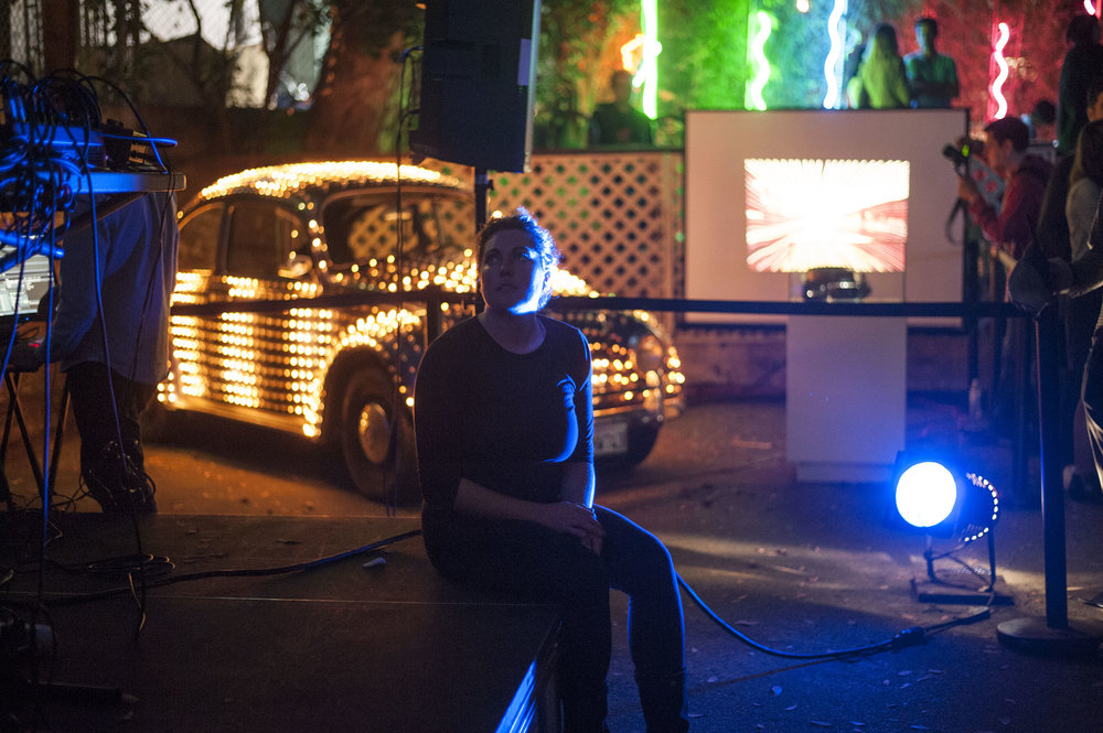 Eric Staller's  Light Car  at  Night Light: Multimedia Garden Party