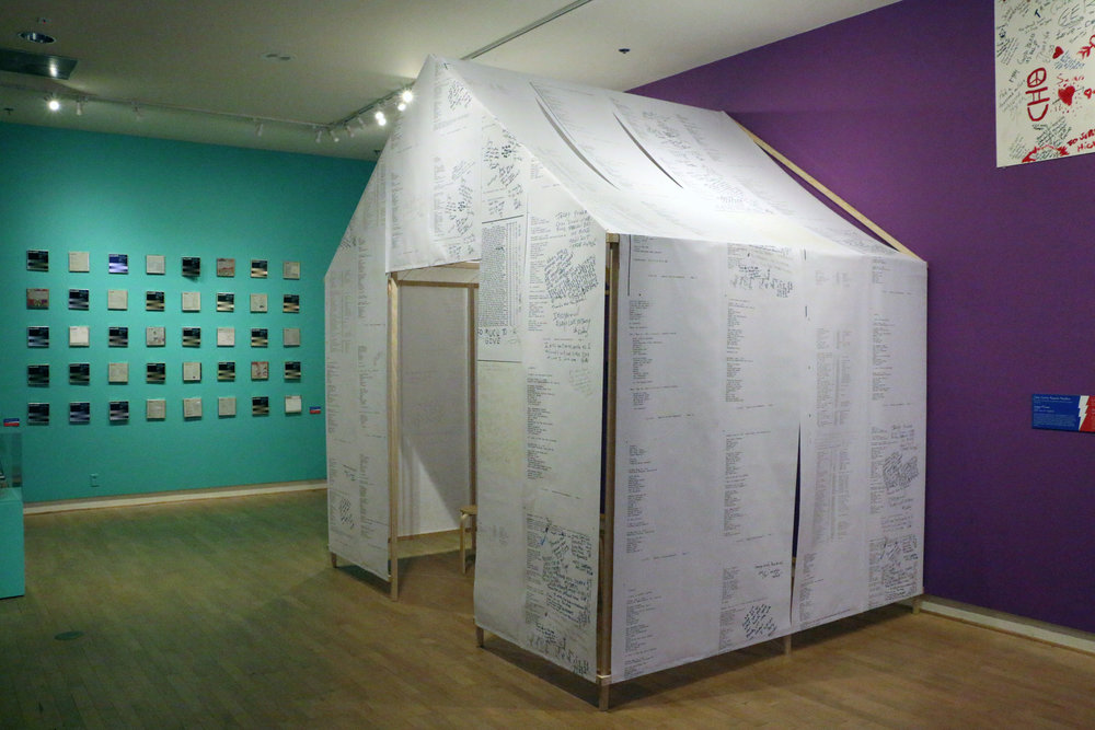 Installation of historic archives from University of California Santa Cruz redesigned as an installation.