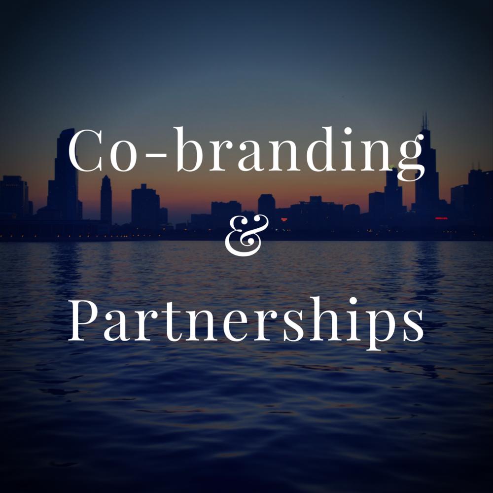 We welcome co-branding & partnerships