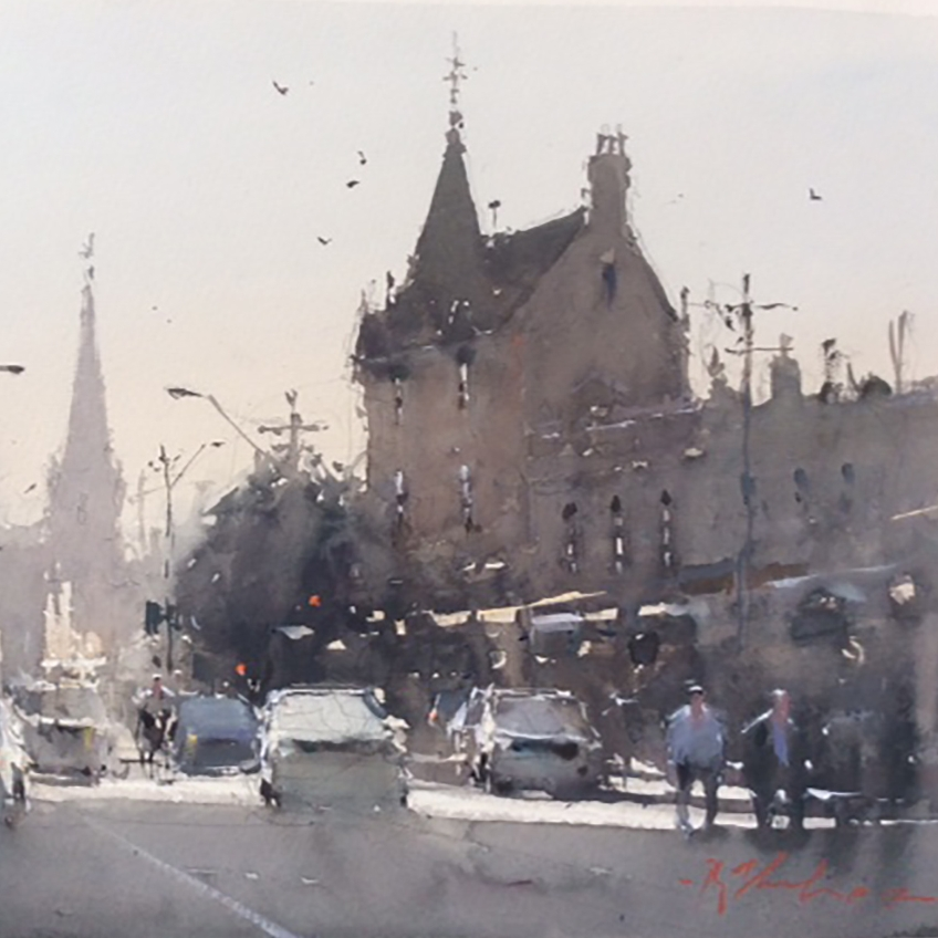 Evening rush hour Melbourne 25x35.jpg