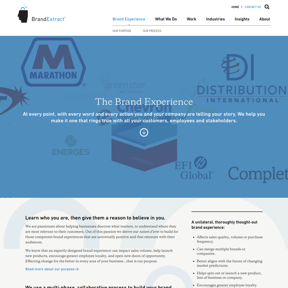 Corporate branding content