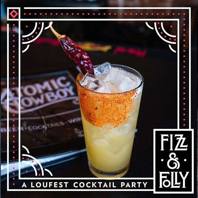 @loufesf #fizzandfolly pre party today @atomiccowboystl They will be serving up these delicious cocktails all day so stop by, grab a drink, and enter to win @loufest tickets! 📸 @whiskeyandsoba