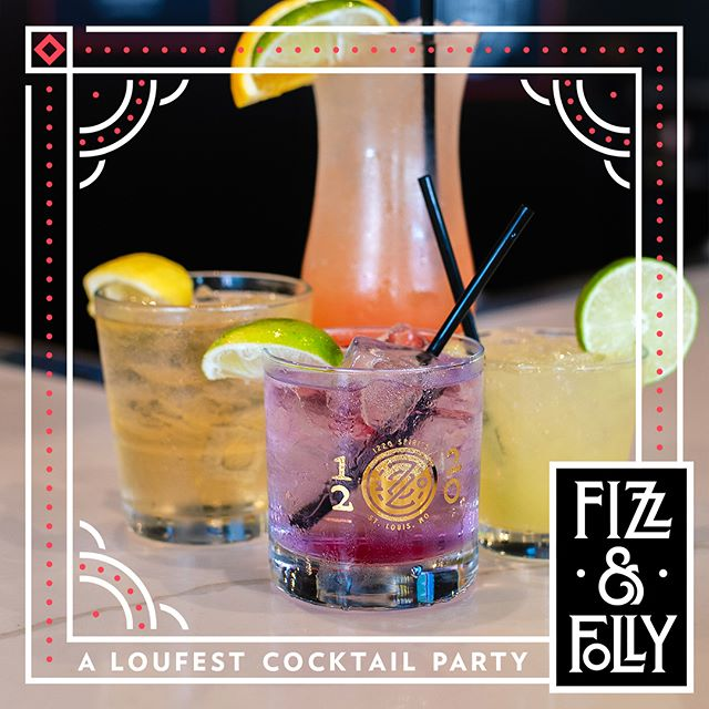 Tonight! #fizzandfolly pre party @subzerovodkabar in the CWE! Stop by after 4pm and enter to win @loufest tix! 📸 @whiskeyandsoba