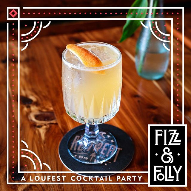 Tonight! #fizzandfolly pre party at @retreatgastro! Enter to win free @loufest tickets! 📸 @whiskeyandsoba