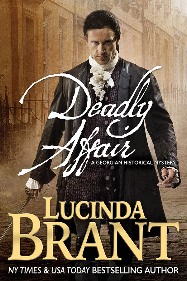 Deadly Affair by Lucinda Brant—book cover art & photography by Larry Rostant