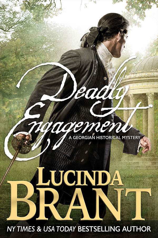 Deadly Engagement by Lucinda Brant—book cover art & photography by Larry Rostant