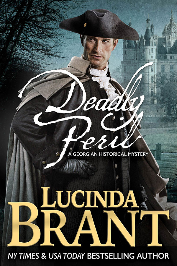 Deadly Peril by Lucinda Brant—book cover art & photography by Larry Rostant