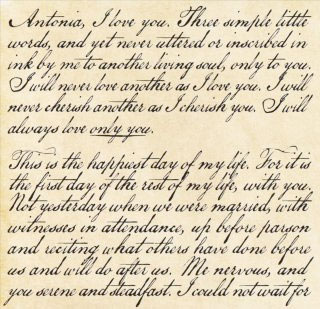 an eighteenth century love letter