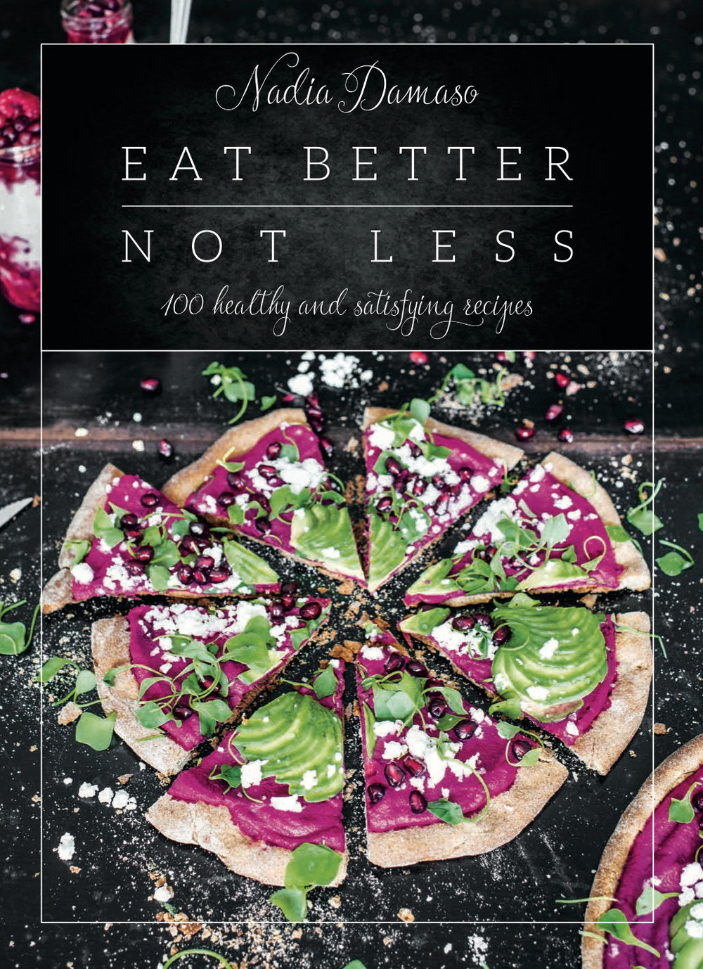 EAT BETTERNOT LESS - EASY, HEALTHY & SIMPLY DELICIOUS!With my recipes, I want to show you how many amazing opportunities there are to easily and quickly create healthy, filling and delicious meals! The secret to a healthy diet is to eat better, but certainly not less! With the right ingredients, this style of cooking is not only good for you and extremely fun, it also leads to a world full of new taste experiences.From no-sugar-added banana ice cream for breakfast to an avocado pizza for lunch or unbelievably sweet, completely innocent desserts, everything is in here for you to choose from. The over 100 recipes in this book will not only attract your sense of taste, they're also a feast for the eyes! Everybody can cook; it's just something you have to practice and, most importantly, do with a lot of passion, imagination and creativity! WhAT'S IN THE COOKBOOK?Over 100 recipes & pictures on 260 pages developed & captured by Nadia DamasoAll recipes are free from refined sugar & refined white flour,  many vegan recipes, always dairy& gluten-free optionsTips & tricks to a healthy lifestyle and diet in generalWhat's in my  cupboard plus an overview of  my favorite products I use for my recipes …and much, much more!:)