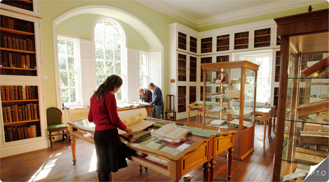 Inside the Library of Innerpeffray, by Crieff