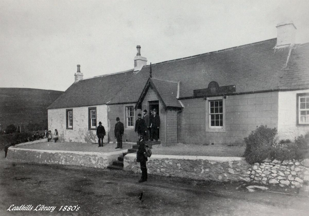 Leadhills. Exterior of library.JPG