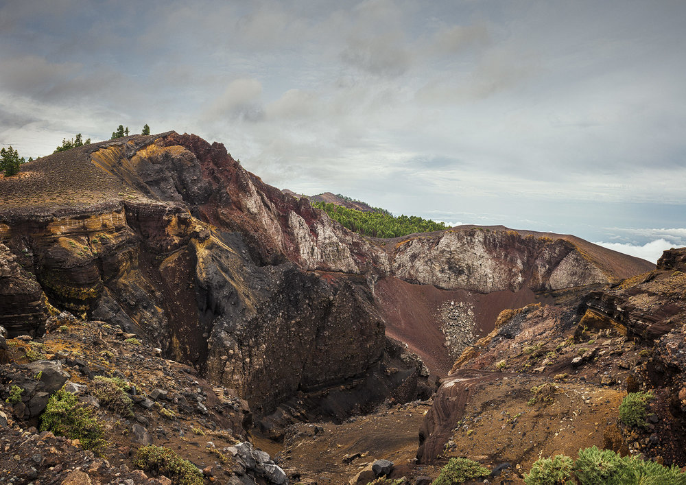 Crater del Hoyo Negro, La Palma.