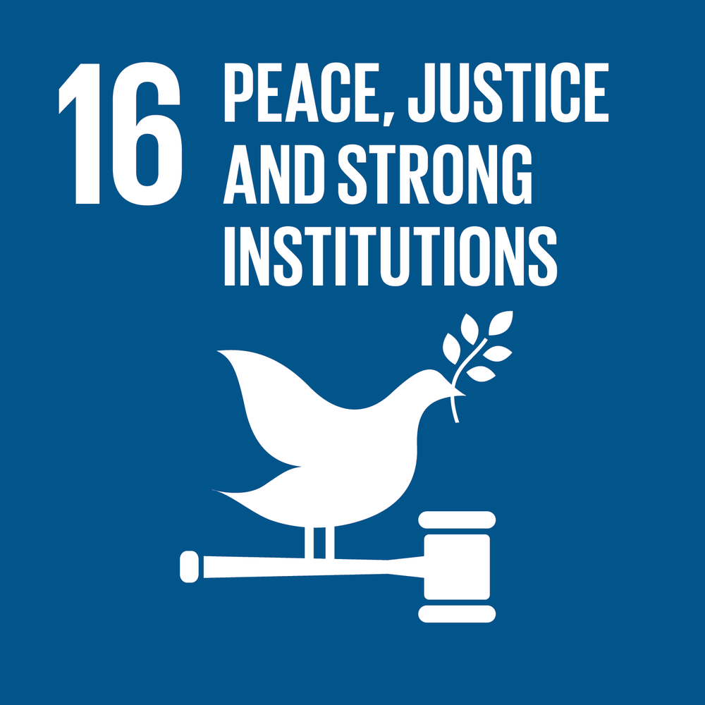 SDG Goal Number 16: Peace, Justice and Strong Institutions