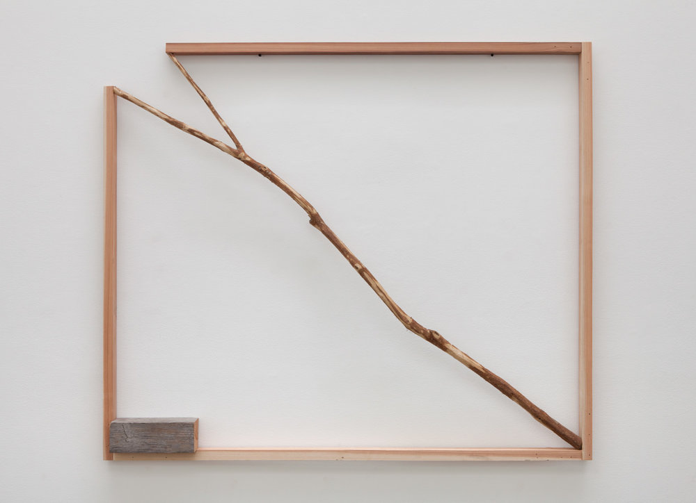 Opening Situation , 1990-2016 景界 ( Keikai ) Wood, branch 48 x 57 x 4 1/2 inches 121.9 x 144.8 x 11.4 centimeters