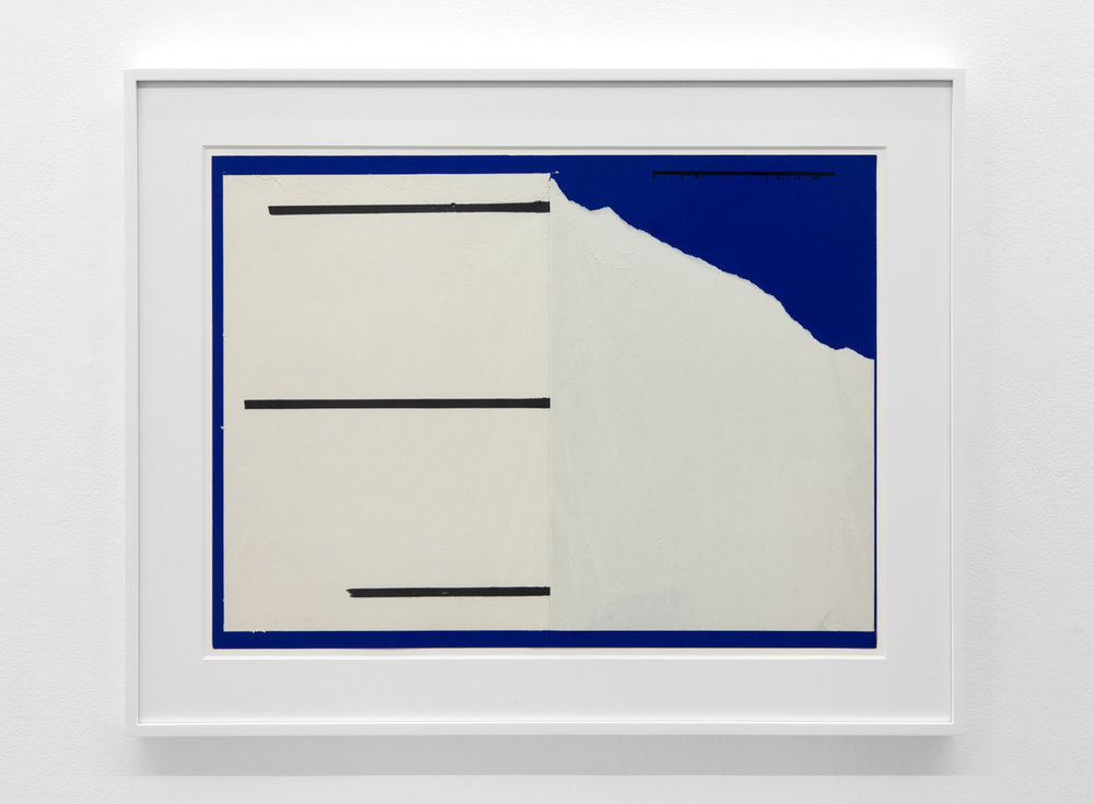 Dependent Space , 1975 Magic marker on paper 20 3/4 x 28 inches 52.7 x 71.1 centimeters