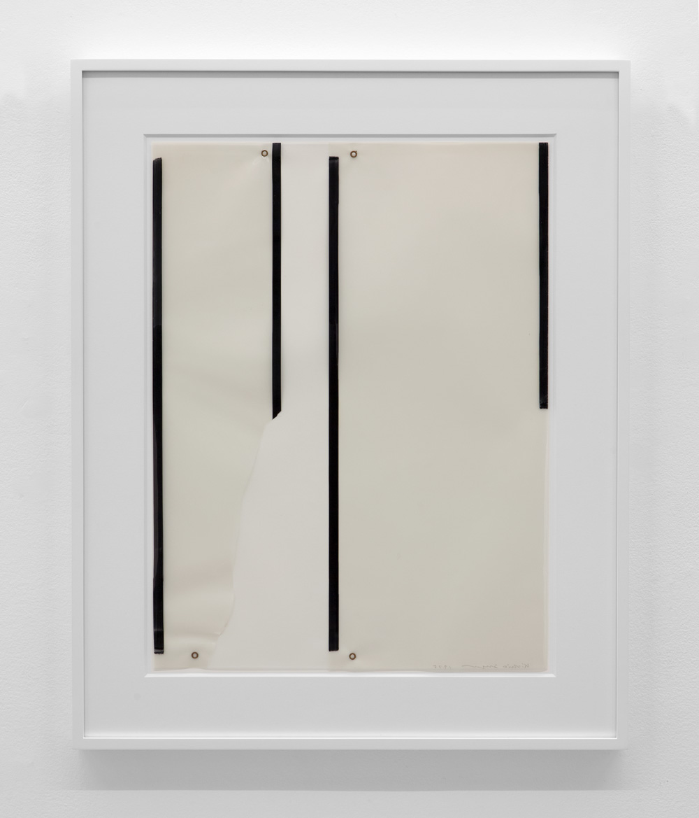 Untitled , 1975 Magic marker and metal on acetate 23 3/8 x 17 5/8 inches 59.4 x 44.8 centimeters