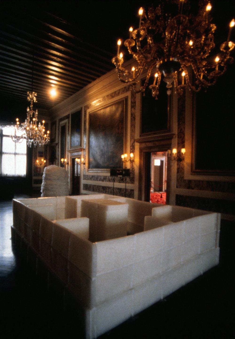 Parallel Strata, 1969/1995 並列層 ( heiretsusō ) Paraffin wax Installation view,  ASIANA: Contemporary Art from the Far East , Palazzo Vendramin Calergi, Venice, Italy, 1995 Photo: Tsuyoshi Satoh