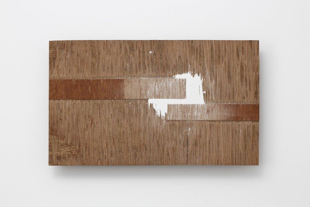 Supplemented Material—41 , 1984 補われた素材ー41 ( Oginawareta Sozai—41 ) Plywood, putty 11 5/8 x 19 1/2 x 1 3/4 inches  29.5 x 49.5 x 4.5 centimeters