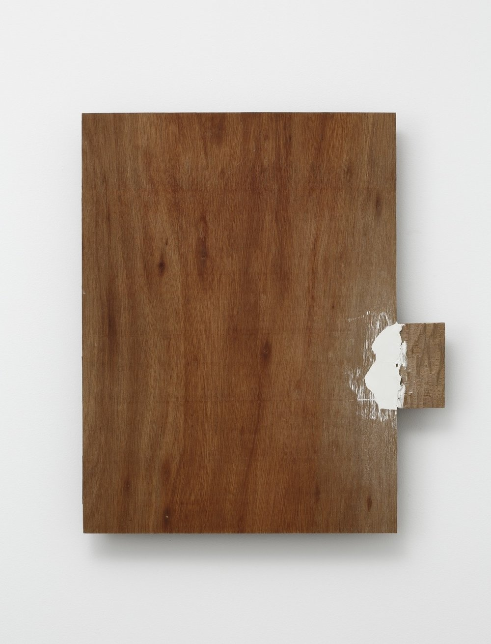 Supplemented Material—8615 , 1986 補われた素材ー8615 ( Oginawareta Sozai—8615 ) Plywood, putty 20 1/2 x 17 3/4 x 1 5/8 inches 52 x 45 x 4 centimeters