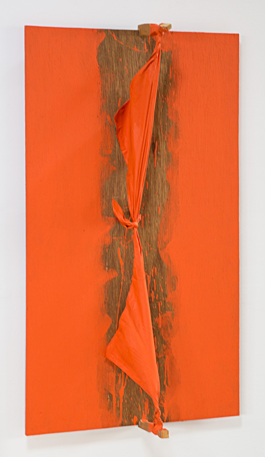 Rising Space at the Edges , 1992 端の界立 ( Tan no Kairitsu ) Wood, cloth, acrylic paint 39 3/8 x 22 7/8 x 7 5/8 inches 100 x 58 x 19.5 centimeters