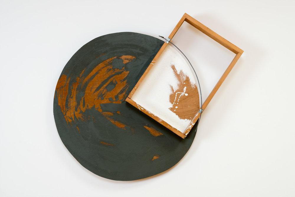Placed Scenery , 1993 置景 ( Chikei ) Wood, acrylic, wire 37 3/8 x 44 7/8 x 6 1/4 inches 95 x 114 x 16 centimeters