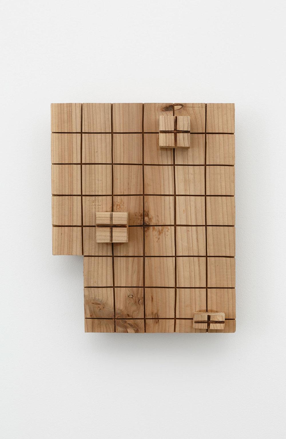 Lateral Borders , 2000 側境 ( Sokkyō ) Wood 11 11/16 x 9 1/2 x 3 1/2 inches 29.7 x 24 x 9 centimeters