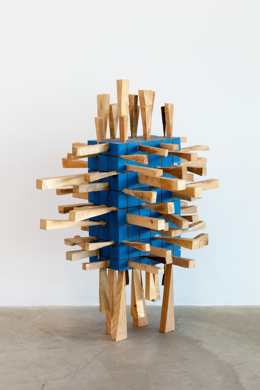 Gathered Circumstances , 2005  集様 ( Shūyō ) Wood, acrylic 22 x 14 15/16 x 18 7/8 inches 56 x 38 x 48 centimeters