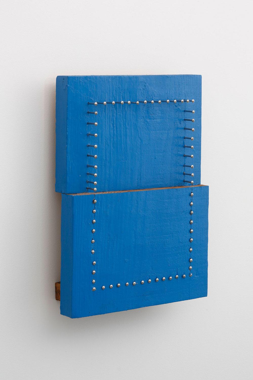 Half Appearance, Half Substance , 2006 半様半体 ( Hanyō Hantai ) Wood, paint, nails 15 11/16 x 11 5/16 x 3 7/8 inches  39.8 x 28.7 x 9.8 centimeters
