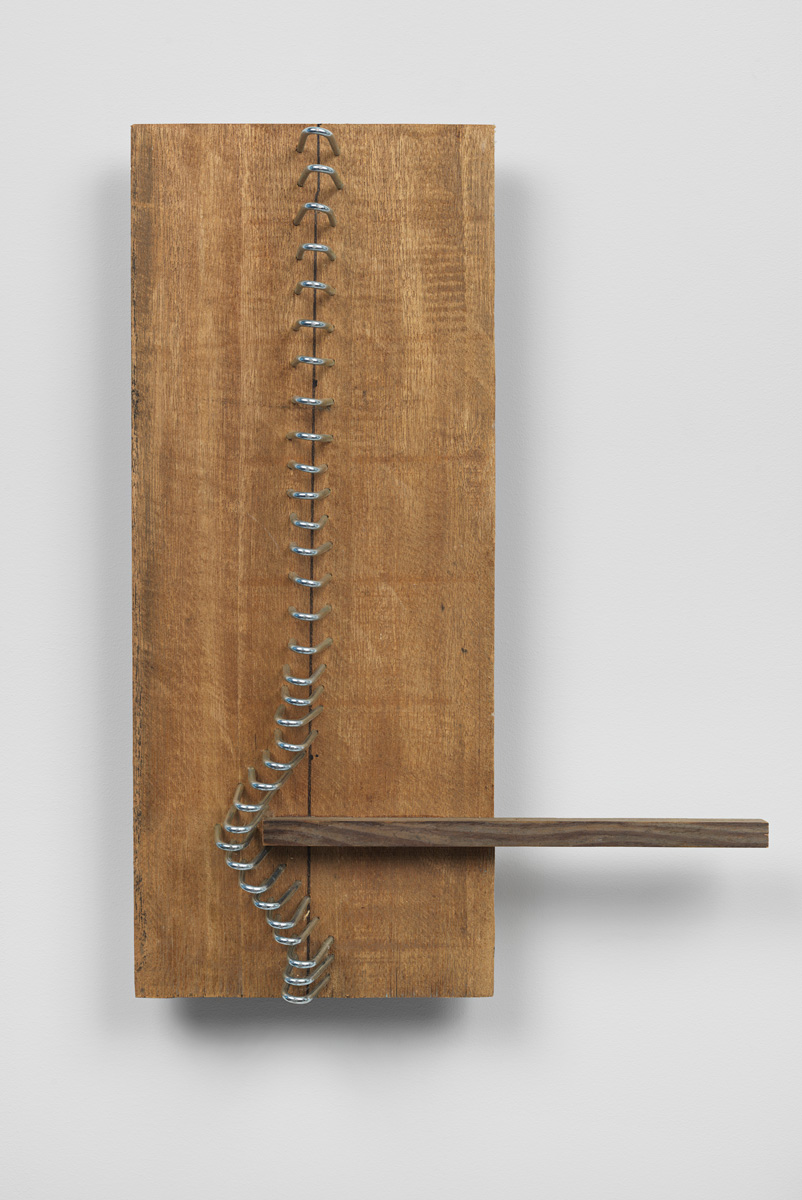 Sequential Spaces , 2014 Wood, metal, marker pen 19 11/16 x 14 x 3 5/8 inches 50 x 35.5 x 9.2 centimeters