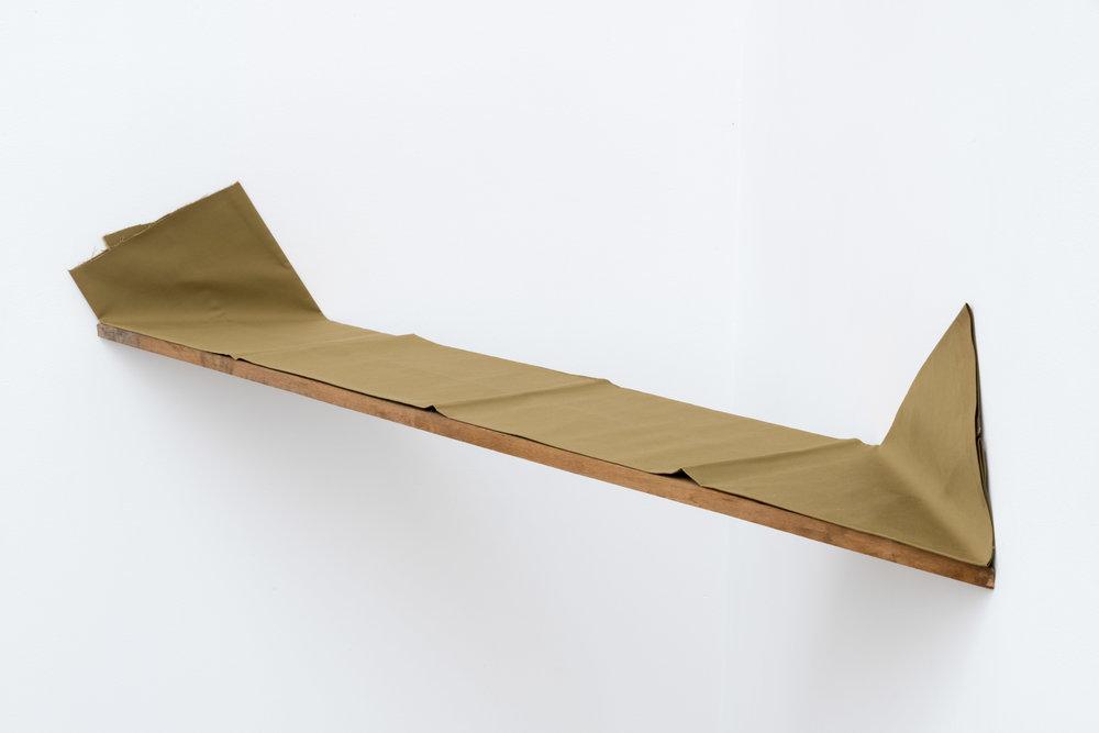 State of an Edge (Z) , 1976 辺状 (Z) ( Henjō [Z] ) Wood, cloth 7 7/8 x 52 3/4 x 8 11/16 inches  20 x 134 x 22 cm