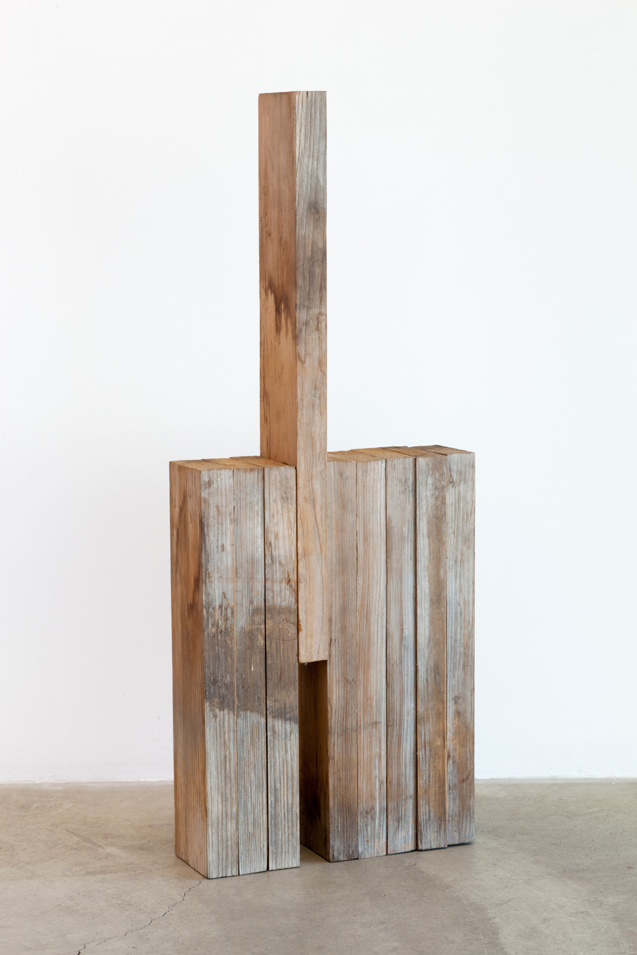 Supported Space , 1974 集支間 ( Shūshikan ) Wood 29 3/4 x 11 5/8 3 15/16 inches  75.5 x 29.5 x 10 cm