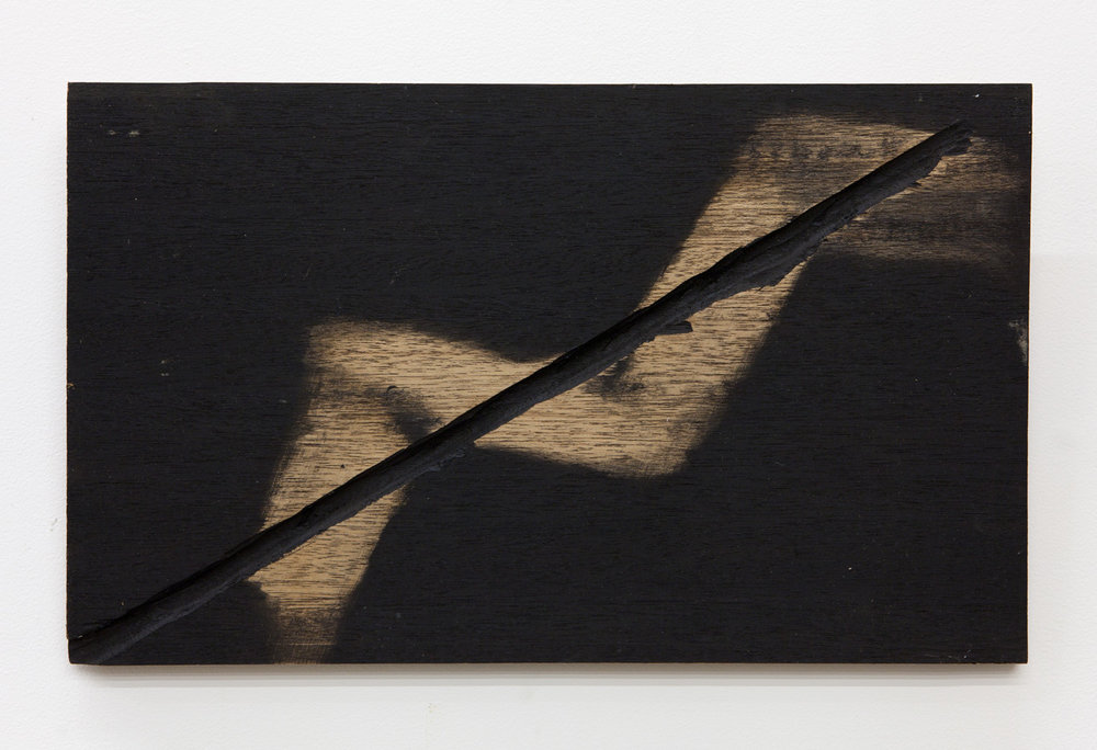 Untitled , 1978 無題 Wood, ink 11 7/8 x 19 5/8 x 1 inches 30 x 50 x 2.5 cm