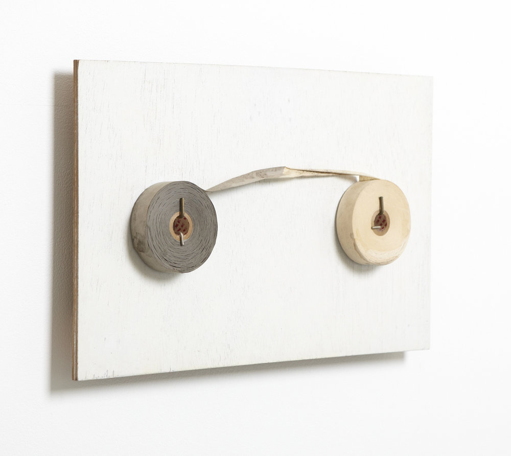 Connecting the Space , 1974 間結 ( Kanketsu ) Wood, acrylic, tape, hook 13 x 20 1/2 x 2 3/4 inches 33 x 52 x 7 cm