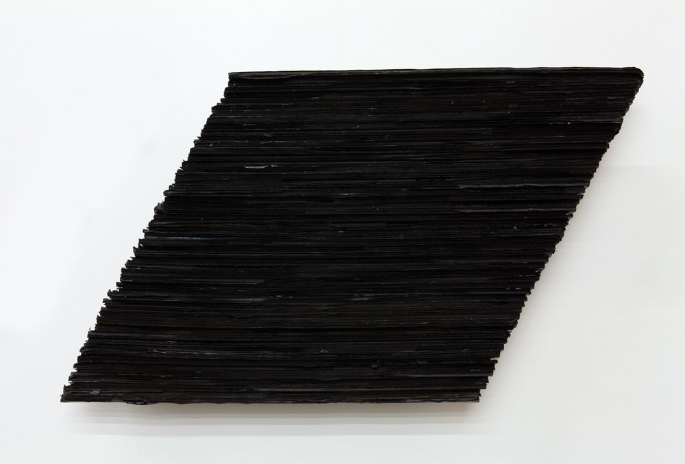 Accumulating Horizon , 1976 地状積 ( Chijōseki ) Cardboard, acrylic 17 3/8 x 30 5/16 x 3 1/2 inches 44 x 77 x 9 cm