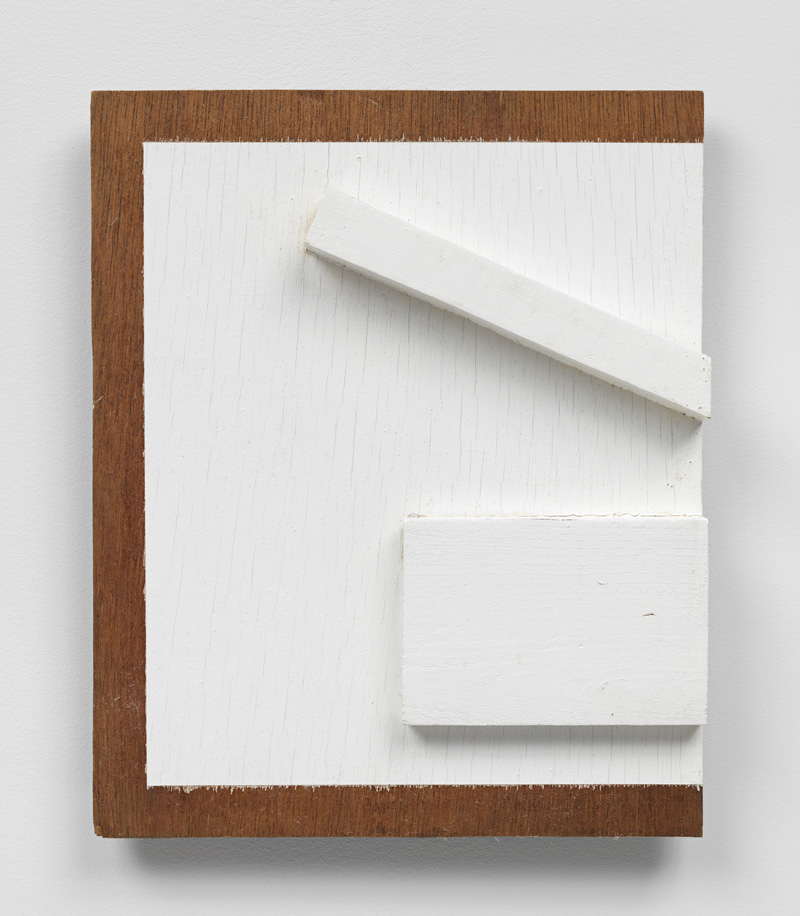Parameters of Phase , 1978 辺相 ( Hensō ) Wood, paint 13 x 10 1/2 x 2 inches 33 x 26.6 x 5.1 cm