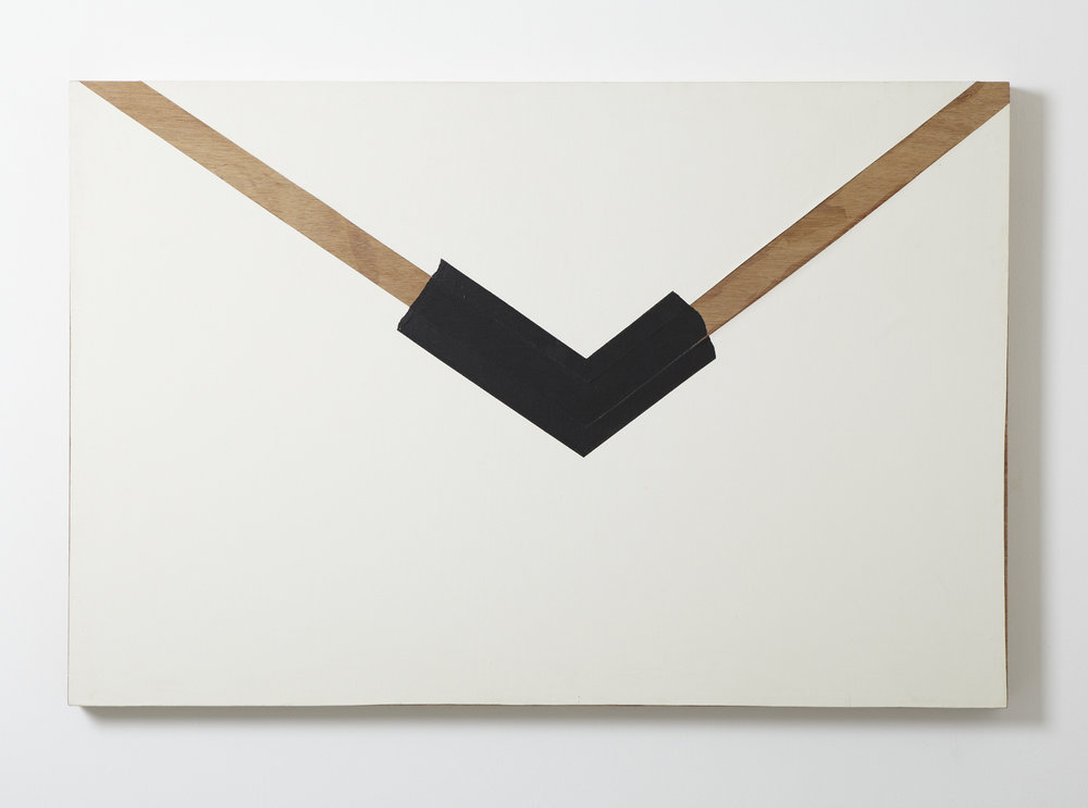 Protrusion.781 , 1981 Wood, acrylic, canvas 35 7/8 x 53 1/2 x 2 1/2 inches 91 x 136 x 6.5 cm