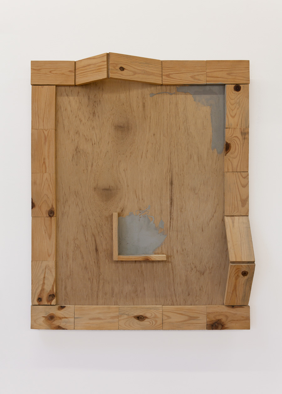 Surrounding of Placement—(40) , 1993 周置-(40) ( Shūchi-[40] ) Wood, acrylic  43 3/4 x 35 7/16 x 6 5/8 inches 111 x 90 x 17 cm
